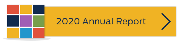yellow rectangle button with a vector of colored squares 2020 Annual Report