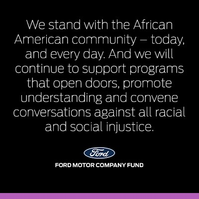 We stand with the African American community