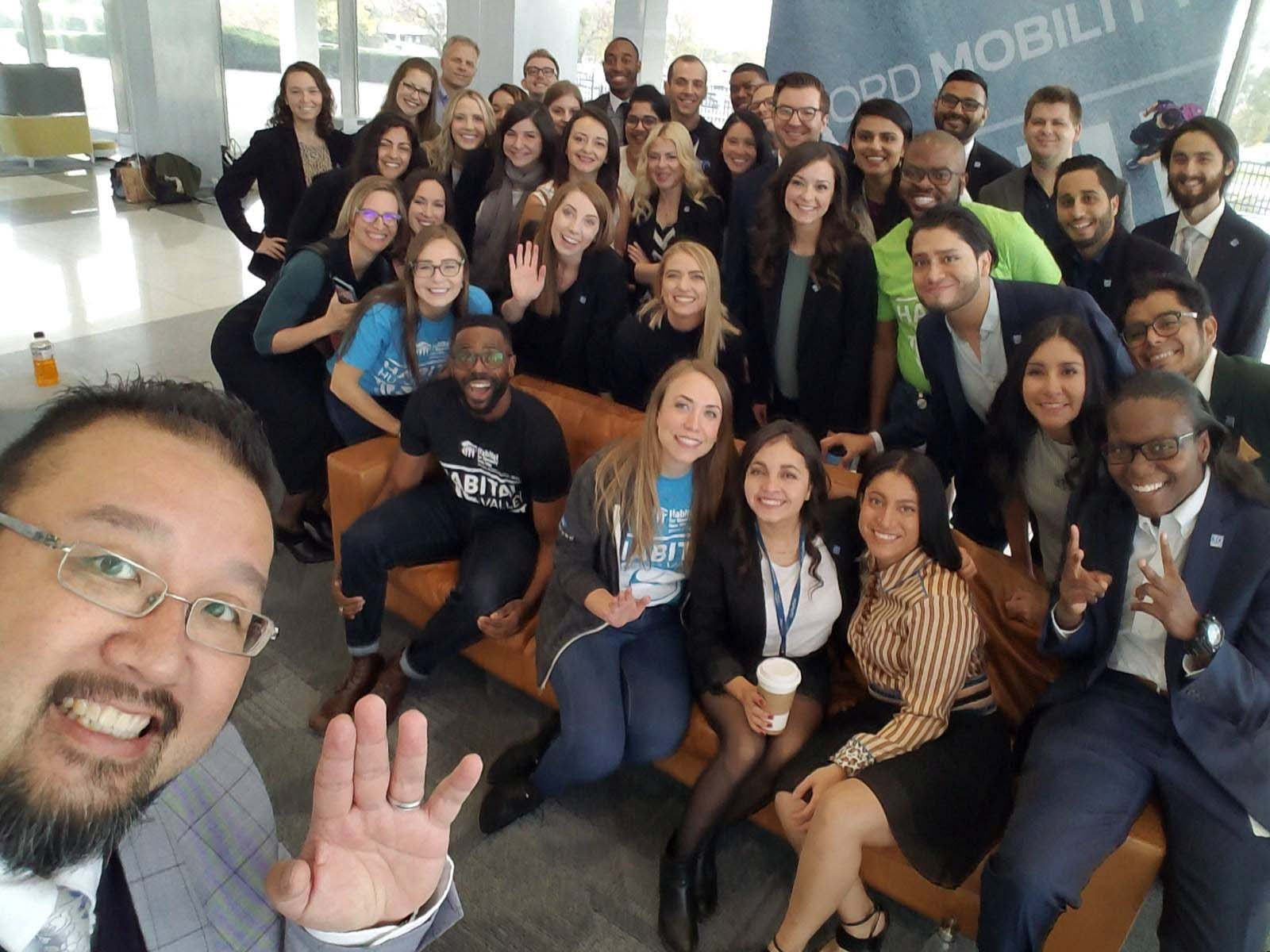 John Hagermanfletcher in the back row on the right in this group shot of the 2019 class of Thirty Under 30 fellows