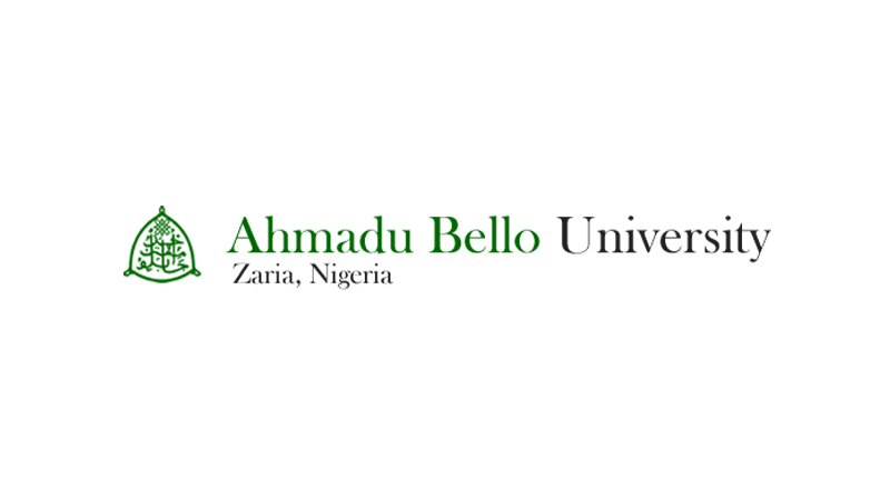 Black and green logo for Ahmadu Bello University