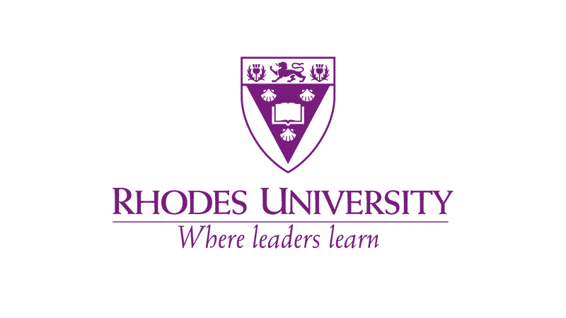 Purple shield logo for Rhodes University - where leaders learn